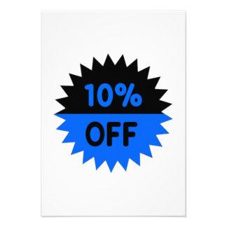 Black and Blue 10 Percent Off Custom Invite