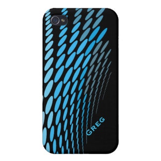 Black and Blue Abstract iPhone 4 Case