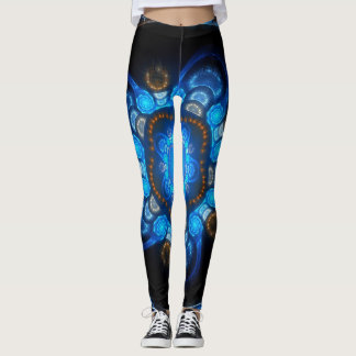 Black and Blue Anemone Leggings