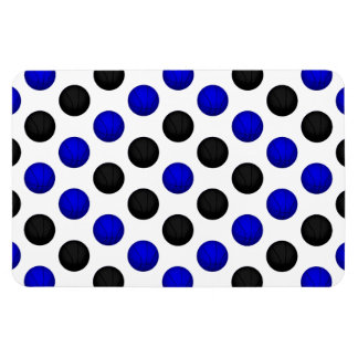 Black and Blue Basketball Pattern Rectangle Magnets