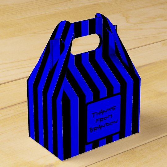 Black and Blue Boys Party Custom Favour Box