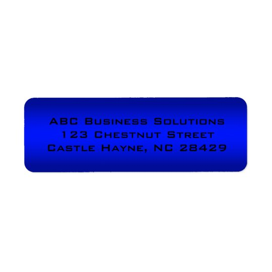 Black and Blue Business Return Address Sticker Return Address Label