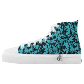 Black and Blue Camouflage High Tops