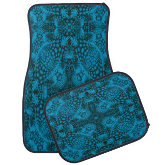 Black And Blue Colorful Car Mats set of 4