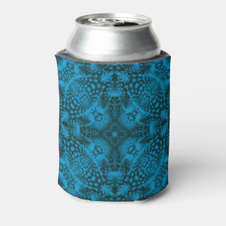 Black And Blue Colorful  Kaleidoscope  Can Cooler