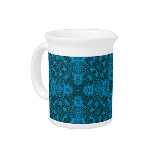 Black And Blue Colorful  Porcelain Pitchers