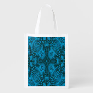 Black And Blue Colorful Reusable Bags Market Totes