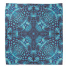 Black and Blue, colourful kaleidoscope bandanna