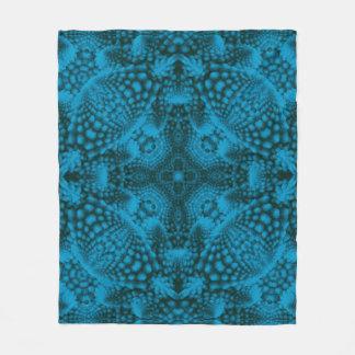 Black And Blue Custom Fleece Blanket 3 sizes