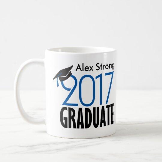 Black and Blue Customisable Graduation Coffee Mug