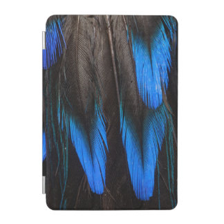 Black And Blue Feather Abstract iPad Mini Cover