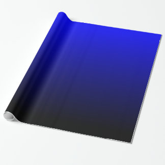 Black and Blue Gradient Wrapping Paper