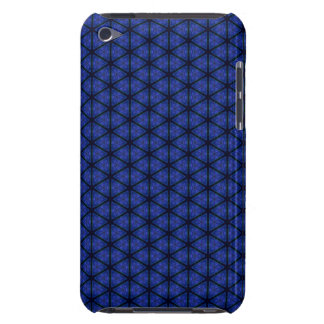 Black and Blue Hexagon Barely There iPod Covers