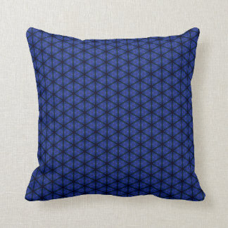 Black and Blue Hexagon Throw Pillow