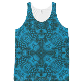 Black And Blue Kaleidoscope All-Over Print Tank Top