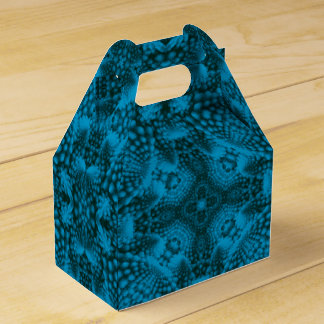 Black And Blue Kaleidoscope Gable Favor Box