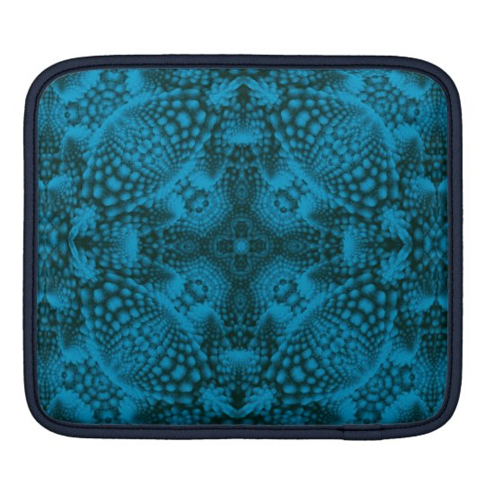 Black And Blue Kaleidoscope   Rickshaw iPad Sleeve