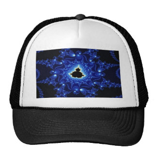 Black and Blue Mandelbrot Fractal Cap