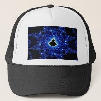 Black and Blue Mandelbrot Fractal Trucker Hat
