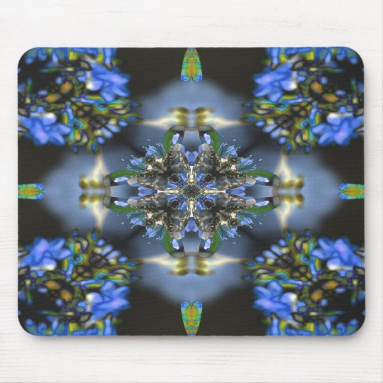 Black and Blue Mouse Mat