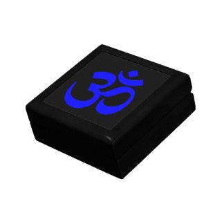 Black and Blue Om Symbol Gift Box