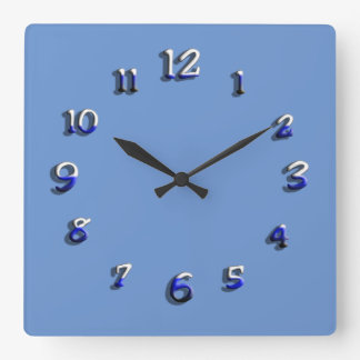 Black and Blue Paint Clock Face