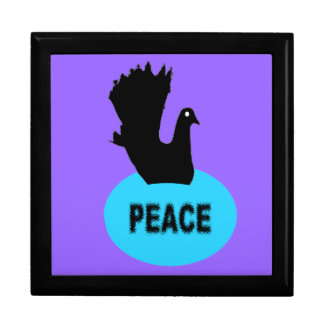 Black and Blue Peace Dove Gift Box