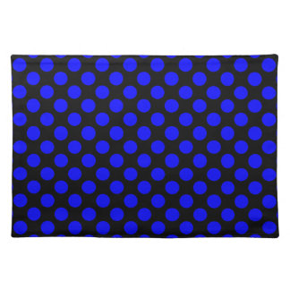 Black and Blue Polka Dot Placemats
