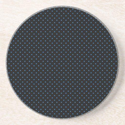 Black and Blue Polka Dots Coasters
