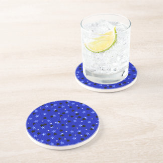 Black and Blue Stars Coaster