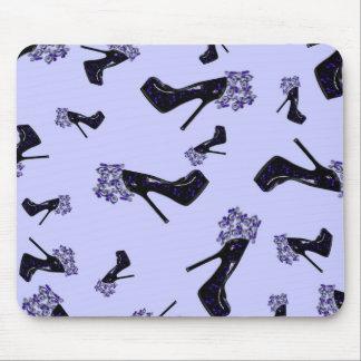 Black and Blue Stilettos Mouse Pad