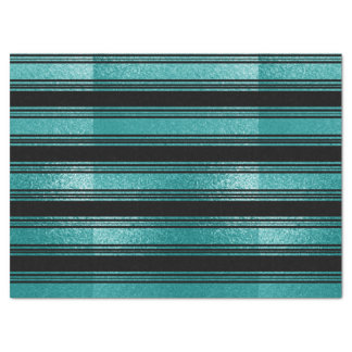 Black And  Blue Striped Tissue Paper