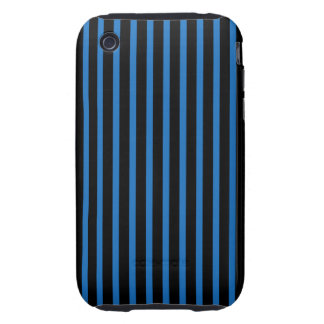 Black and Blue Stripes iPhone 3 Tough Covers