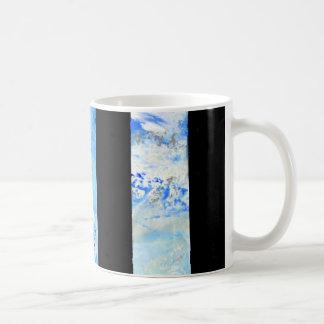 black and blue stripes coffee mug
