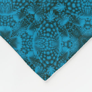 Black And Blue Two  Fleece Blankets, 3 sizes