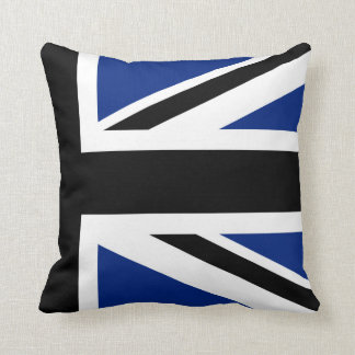 Black and Blue Union Jack Half Cushion