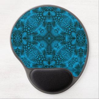 Black And Blue Vintage Kaleidoscope   Gel Mousepad Gel Mouse Mat