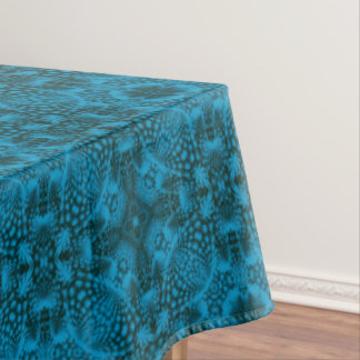 Black And Blue Vintage Kaleidoscope  Tablecloth