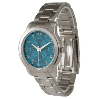 Black And Blue Vintage Womens Watch