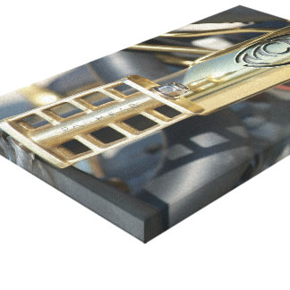 Black and Brass Canvas Prints