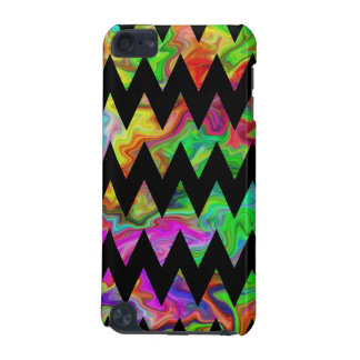 Black and Bright Multicolored Zigzags. iPod Touch 5G Covers