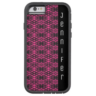 Black and Bright Pink Lace Style Pattern Name Tough Xtreme iPhone 6 Case