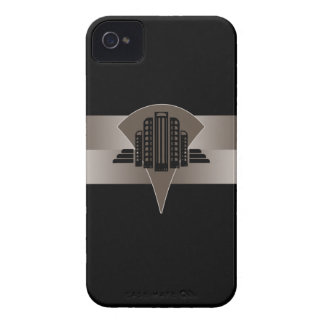 Black and Bronze Art Deco Tower iPhone 4 Cases