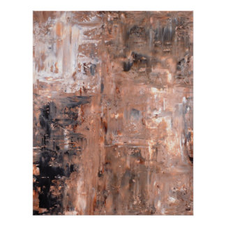 Black and Brown Abstract Art Poster