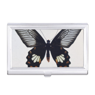Black and brown butterfly business card holder