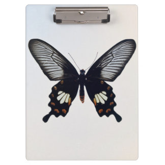Black and brown butterfly clipboard