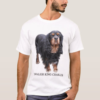 Black and Brown Cavalier King Charles dog T-Shirt