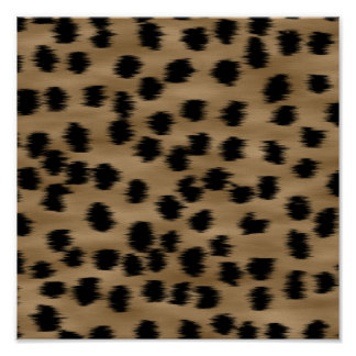 Black and Brown Cheetah Print Pattern.