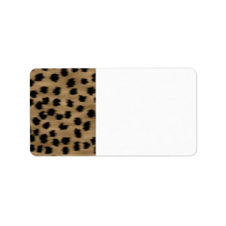 Black and Brown Cheetah Print Pattern. Address Label