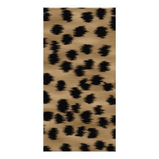 Black and Brown Cheetah Print Pattern. Card